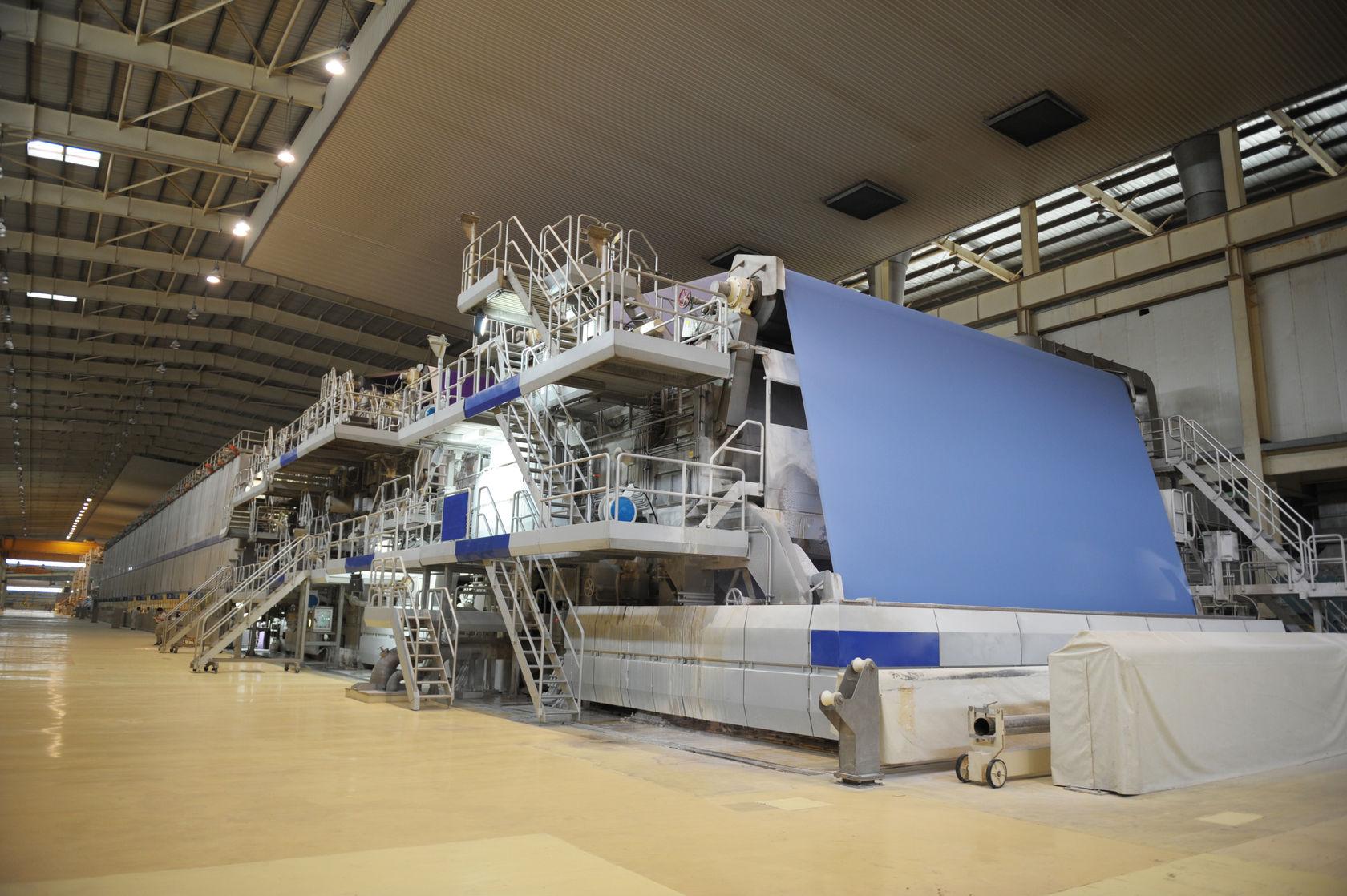 Stillstand in der Papierindustrie